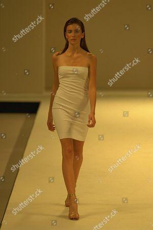 Model On Catwalk In Ben Delisi Designs For London Fashions Week 1997.