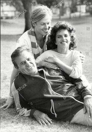 Editorial picture of Actress And Model Clio Goldsmith Mrs Clio Shand With Roger Hanin (front) And John Moulder Brown (back) Clio Goldsmith (clio Shand Since 1990 When She Married Mark Shand) (born 16 June 1957 In Paris) Is A French Former Actress Appearing Mostly As A Fe