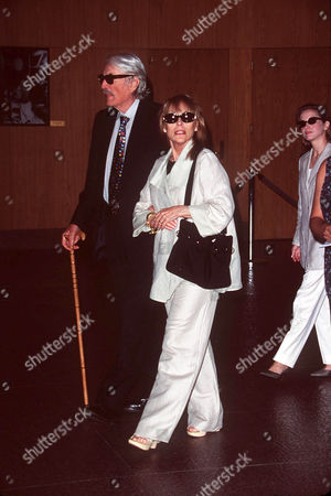 GREGORY PECK & WIFE AT WALTER MATTHAU MEMORIAL SERVICE IN HOLLYWOOD