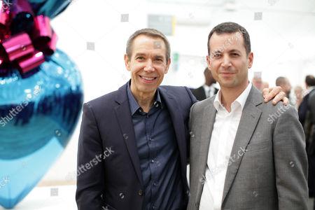 Stock Photo of Jeff Koons and Matthew Slotover