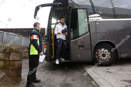Oguchi Onyewu of QPR arrives at Turf Moor, home of Burnley FC