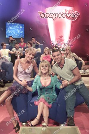"""""""SOAP FEVER"""" TV - Tracie Bennett with David Easter (Pete Callan) and Jemma Walker (Siobahn Callan) from Family Affairs"""