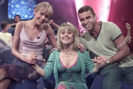 """Stock Picture of """"SOAP FEVER"""" TV - Tracie Bennett with David Easter (Pete Callan) and Jemma Walker (Siobahn Callan) from Family Affairs"""