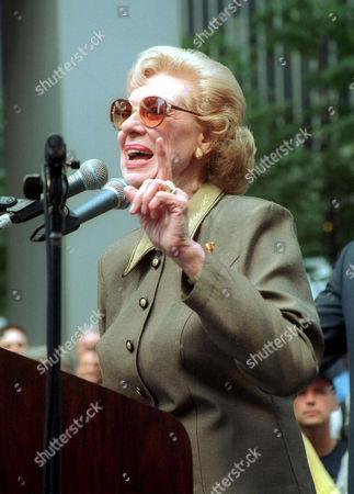 Joyce Randolph at Striking Actors Rally , New York