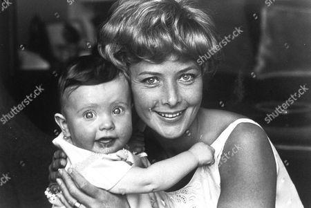 JUNE THORBURN AND DAUGHTER, JUNE 1965.