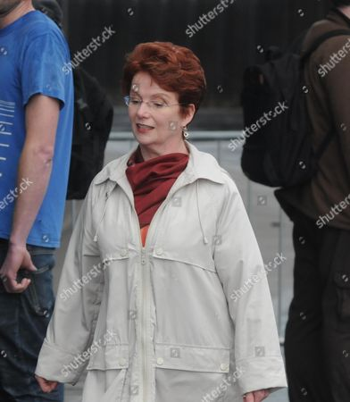 Hazel Blears Arrives At The Emirates Stadium In London For The Tony Blair Fundraiser Tonight.