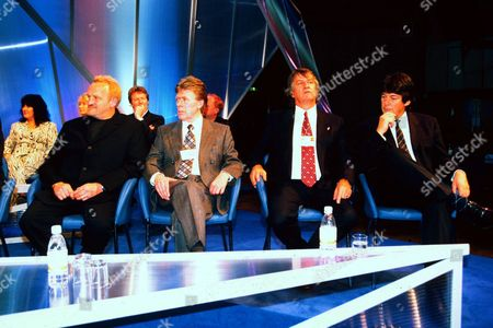 ANTONY WORRALL THOMPSON, MIKE YARWOOD AND ED STEWART AND MIKE READ AT THE TORY PARTY CONFERENCE 2000