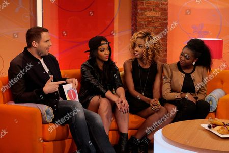 Dan Wootton with Miss Dynamix - Rielle Carrington, Jeanette Akua, Sese Foster