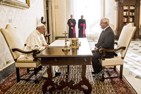 Pope Francis I and Ricardo Martinelli