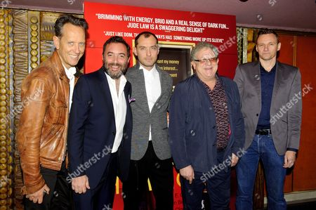 Stock Image of Richard E Grant, Richard Shepard, Jude Law and Jeremy Thomas