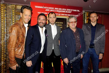 Stock Picture of Richard E Grant, Richard Shepard, Jude Law and Jeremy Thomas