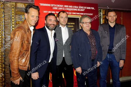 Richard E Grant, Richard Shepard, Jude Law and Jeremy Thomas