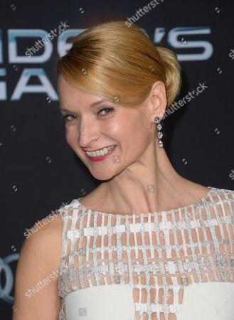 Editorial image of 'Ender's Game' film premiere, Los Angeles, America - 28 Oct 2013