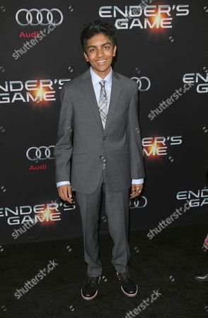 Editorial picture of 'Ender's Game' film premiere, Los Angeles, America - 28 Oct 2013
