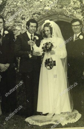 Three generations of women who were married on the 1st November (two more generations have since died who were also married on the 1/11) (l-r) Pauline Matthews and her husband Keith on their wedding day 1/11/72 , BRITAIN