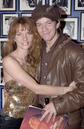 """MAX BEESLEY AND JULIANNE WHITE AT THE PARTY FOR """" SEXY BEAST"""" AT THE HAMPSHIRE HOTEL IN SOHO. LONDON , BRITAIN"""