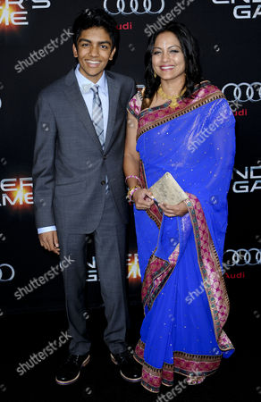 Stock Photo of Suraj Partha and mother