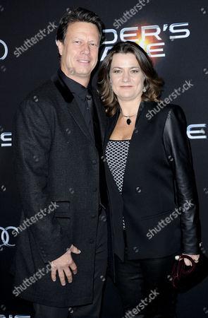 Gavin Hood and wife Janine Eser