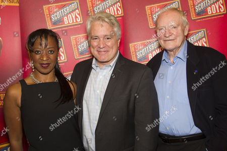 Dawn Hope (The Lady), David Thompson (Author) and Julian Glover (The Interlocutor)