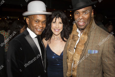 Forrest McClendon (Mr Tambo), Catherine Schreiber (Producer) and Colman Domingo (Mr Bones)