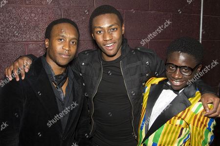 Rohan Pinnock-Hamilton (Olen Montgomery), Carl Spencer (Andy Wright) and Idriss Kargbo (Eugene Williams)