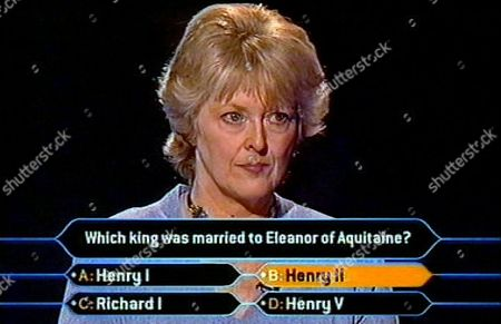 """JUDITH KEPPEL ANSWERS THE MILLION POUND QUESTION AND BECOMES THE FIRST PERSON TO WIN A MILLION POUNDS ON """" WHO WANTS TO BE A MILLIONAIRE """" BRITAIN"""