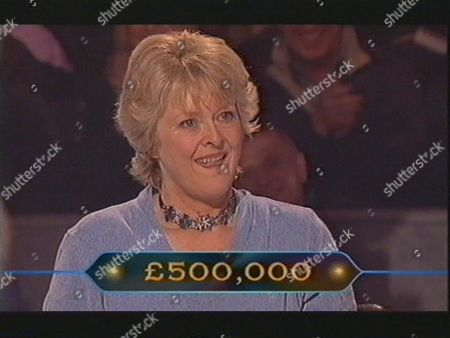 """JUDITH KEPPEL THE FIRST PERSON TO WIN A MILLION POUNDS AT THE HALF WAY MARK ON """"WHO WANTS TO BE A MILLIONAIRE """" BRITAIN"""