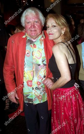 KEN RUSSELL WITH HIS LATEST PARTNER LISI TRIBBLE AT THE COBDEN CLUB TONIGHT LONDON BRITAIN
