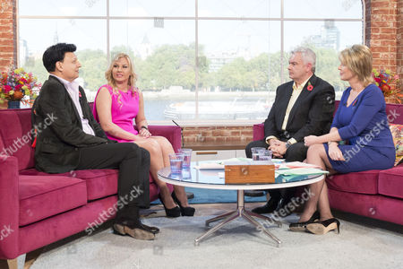 Mohammed Zahoor and his pop star wife Natalia Shmarenkova with Eamonn Holmes and Ruth Langsford