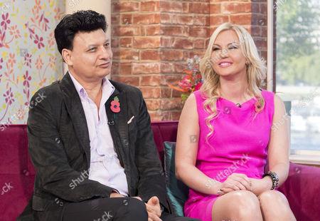 Mohammed Zahoor and his pop star wife Natalia Shmarenkova.