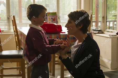 Stock Picture of Tommy Potten as Sam and Tamsin Greig as DS Maggie Brand.