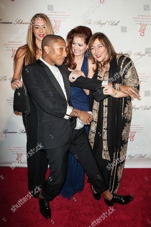 Ofira Sandberg, Debra Messing, Lorraine Schwartz, Pharrell Williams