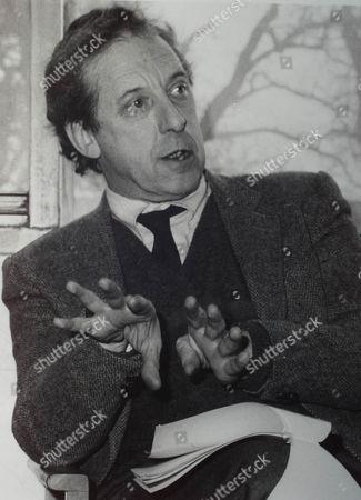 SIR MALCOLM BRADBURY WRITER, AT UNIVERSITY OF EAST ANGLIA IN THE EIGHTIES