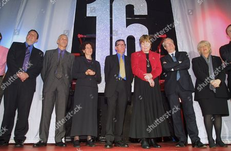 Gordon Marsden MP, Gillian Merron MP, David Borrow MP, Baroness Massey, Chris Smith MP, Anne Keen MP at Stonewall Age of Consent victory party Heaven nightclub, London, Britain