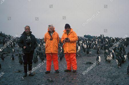 HUMANS - Togensen Island Antarctic Ronald Lockley, Richard Adams and Peter Hurst-Smith -Adelie Penguins