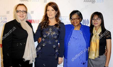 Stock Picture of Najiba Ayubi, Marcia Gay Harden, Edna Machirori and Bopha Phorn