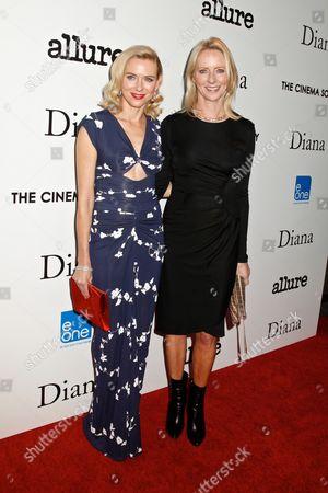 Naomi Watts and Linda Wells