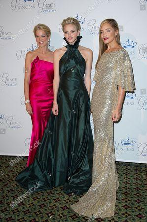 Paula Zahn, Princess Charlene and Michael Michele