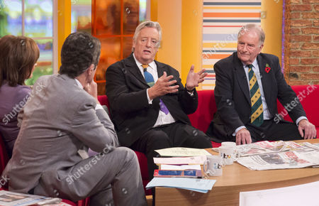 John Stapleton and Lorraine Kelly with Michael Mansfield and Roger Gale