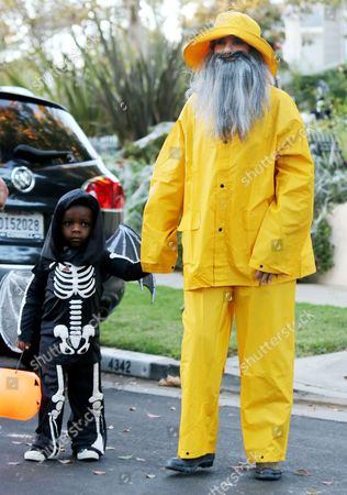 Editorial image of Sandra Bullock and son Louis out trick-or-treating, Los Angeles, America - 31 Oct 2013