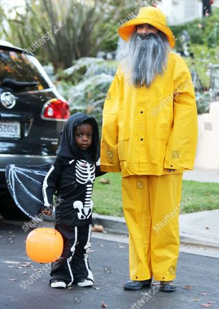 Editorial picture of Sandra Bullock and son Louis out trick-or-treating, Los Angeles, America - 31 Oct 2013