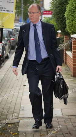 Bbc Director General George Entwistle Outside His Southfields Home This Morning 24th Oct 2012.