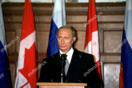 VLADIMIR PUTIN RUSSIAN PRESIDENT , OTTAWA, CANADA