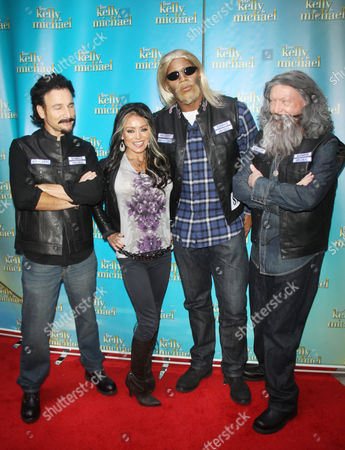 Michael Gelman, Kelly Ripa and Michael Strahan (as Gemma and Jax from 'Sons of Anarchy')