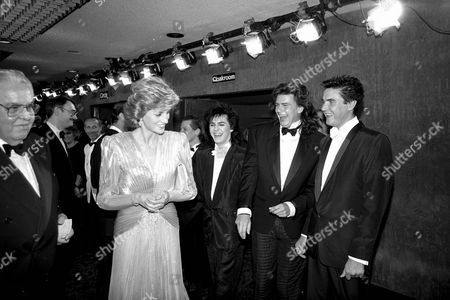 "ALBERT ""CUBBY"" BROCCOLI. PRINCESS DIANA, DURAN DURAN,""A VIEW TO A KILL"" PREMIERE. 12/06/85"