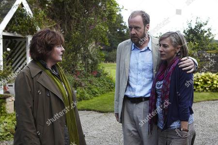 Brenda Blethyn as Vera Stanhope, Reece Andrews as Dan Marsden and Saskia Reeves as Laura