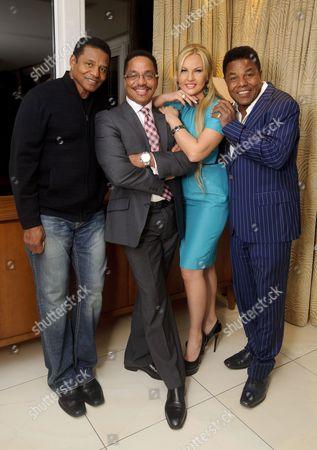 Stock Image of Jackie Jackson, Tito Jackson, Natalia Shmarenkova Zahoor and Marlon Jackson