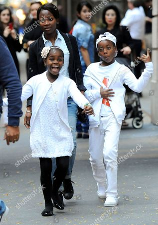 Editorial picture of Madonna and Children leave Kabbalah Center, New York, America - 02 Nov 2013