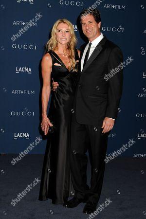 Stock Image of Steven Levitan and wife Krista Levitan
