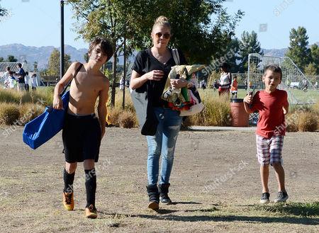 LeAnn Rimes with Mason Cibrian and Jake Cibrian